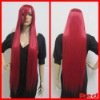 New 100CM Long Straight Restyled white Anime Cosplay Party Hair Full Heat wig