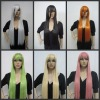 New Long Straight Restyled Colorful Anime Cosplay Party Hair Full Heat wig