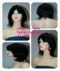 New design fashion 8 inch human hair wig in color 1b#