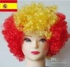 Popular football fashion wigs/festival fashion wigs
