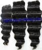 Popular natural color deep wave Brazilian  human hair