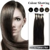 Pre-bonded stick-tip human hair extensions