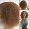 Premium 12'' 4# Afro curl 100% India remy human hair full lace wig in stock