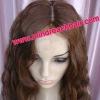 Premium 18'' 30# natural wave 100% Malaysian hair 4*4 silk top lace wig accept paypal
