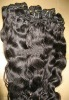Premium 24'' 1b# natural wave 100% virgin India remy hair weft accept paypal