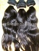 Pretty natural color natural wave virgin Peruvian hair weaving accept paypal