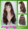 Red synthetic full lace wigs long red color wigs