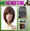 Regular synthetic brown color wigs hair short for girls
