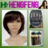 Regular synthetic dark brown color wigs hair short