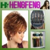 Regular wave bright brown wigs hair short synthetic wigs