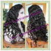 Romance wave natural color full lace wigs made of 100% Chinese virgin hair in stock