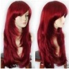 SEXY MODA DONNA LONG RED WIG PARRUCCHE WIGS PARRUCCA