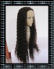 SUPER LONG WATER WAVE NATURAL COLOR 100% INDIAN HUMAN HAIR LACE FRONT WIGS