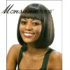 Short and brown bobo human hair full lace wig for black ladies
