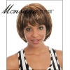 Short and brown kinky curl human hair full lace wig for black ladies