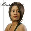 Short brown human hair full lace wig for black ladies