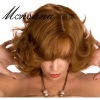 Short curly human hair full lace wig for women