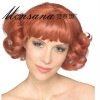 Short deep wave human hair full lace wig for women