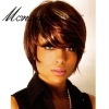 Short kinky curl synthetic wigs for charming ladies
