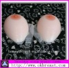 Silicone breast form for increasing bust size