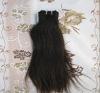 Silky straight machine weft hair