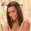 Simple and beautiful brown long silky straight wave human hair wigs for women