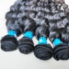 Single drawn human hair weft/extension
