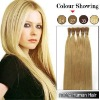 Stick-tip pre-bonded human hair extensions