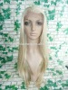 Stock!! gorgeous synthetic heat resistant hair front lace wig blonde color
