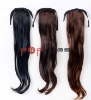 Stock synthetic hair wrap around ponytail