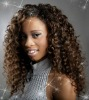 Super hot deep curl 100% human full lace wig