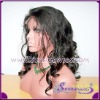 Super quality  body wave virgin brazilian hair  full lace wig for black women