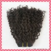 Super quality deep curl virgin Human hair extension