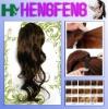Synthetic dark brown regular hair drawstring ponytail