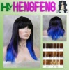 Synthetic paypal cosplay costume wig