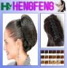 Synthetic ponytail clip black regular extension pieces