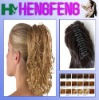 Synthetic ponytail clip blonde curly extension hairpieces