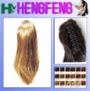 Synthetic ponytail clip blonde stright extension pieces