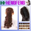 Synthetic ponytail clip brown extension curly hairpieces