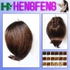 Synthetic ponytail clip dark brown regular extension pieces