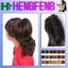 Synthetic ponytail clip dark brown regular hairpieces