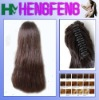 Synthetic ponytail clip extension hairpieces brown stright