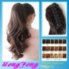 Synthetic ponytail clip extension long regular hairpieces