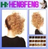 Synthetic ponytail clip golden curly extension pieces