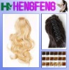Synthetic ponytail clip light blonde extension pieces