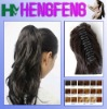 Synthetic ponytail clip long black extension hairpieces