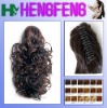Synthetic ponytail clip mixed color curly extension pieces