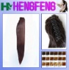 Synthetic ponytail clip red stright extension hairpieces