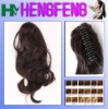 Synthetic ponytail clip reghular brown extension pieces