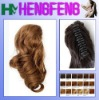 Synthetic ponytail clip regular golden extension hairpieces